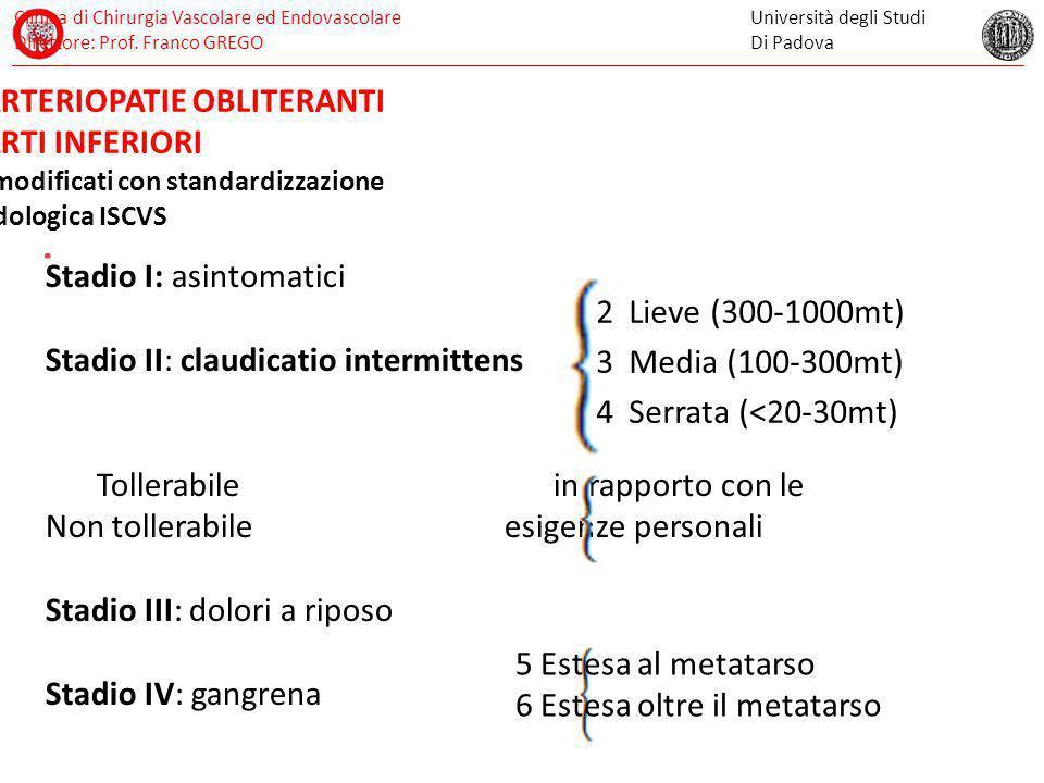 Clinica di Chirurgia Vascolare ed Endovascolare Direttore: Prof.