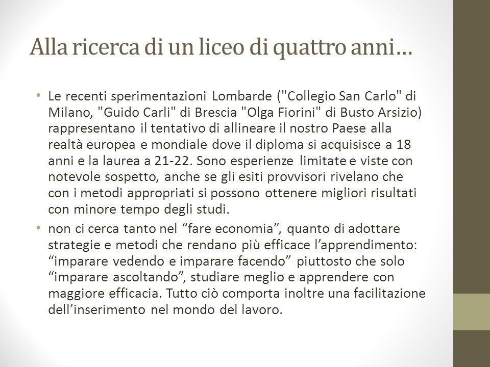 Il liceo italiano all'estero dura 4 anni.
