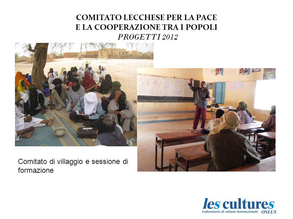 COMITATO LECCHESE PER LA PACE E LA COOPERAZIONE TRA I POPOLI PROGETTI 2012 Comitato di villaggio e sessione di formazione