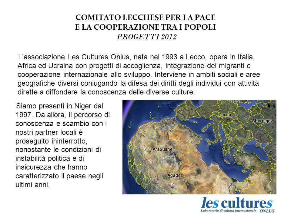 COMITATO LECCHESE PER LA PACE E LA COOPERAZIONE TRA I POPOLI PROGETTI 2012 Il nuovo pozzo di Dabaga