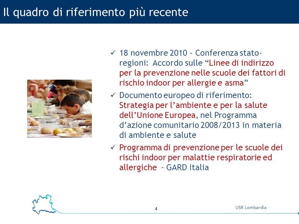 """4 USR Lombardia 18 novembre 2010 - Conferenza stato- regioni: Accordo sulle """"Linee di indirizzo per la prevenzione nelle scuole dei fattori di rischio"""