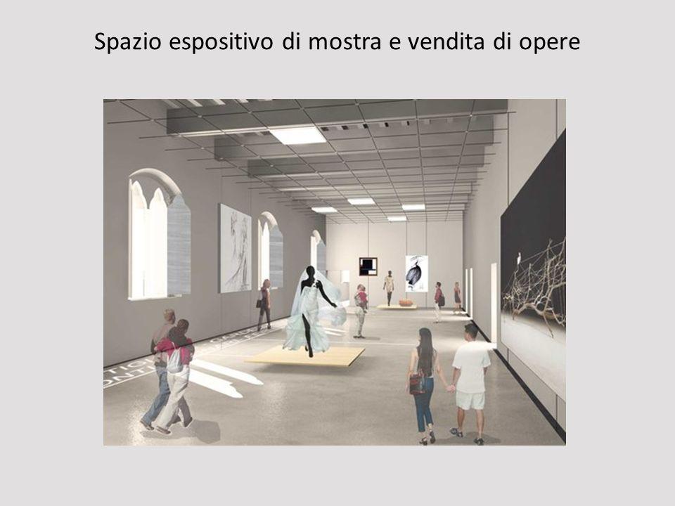 Spazio espositivo di mostra e vendita di opere