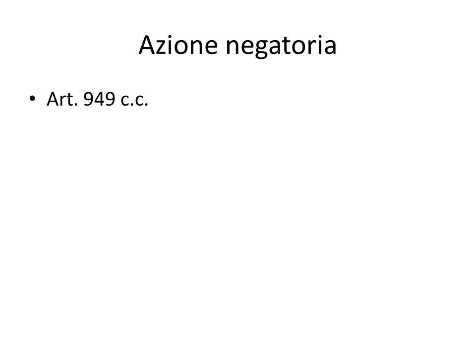 Azione negatoria Art. 949 c.c.