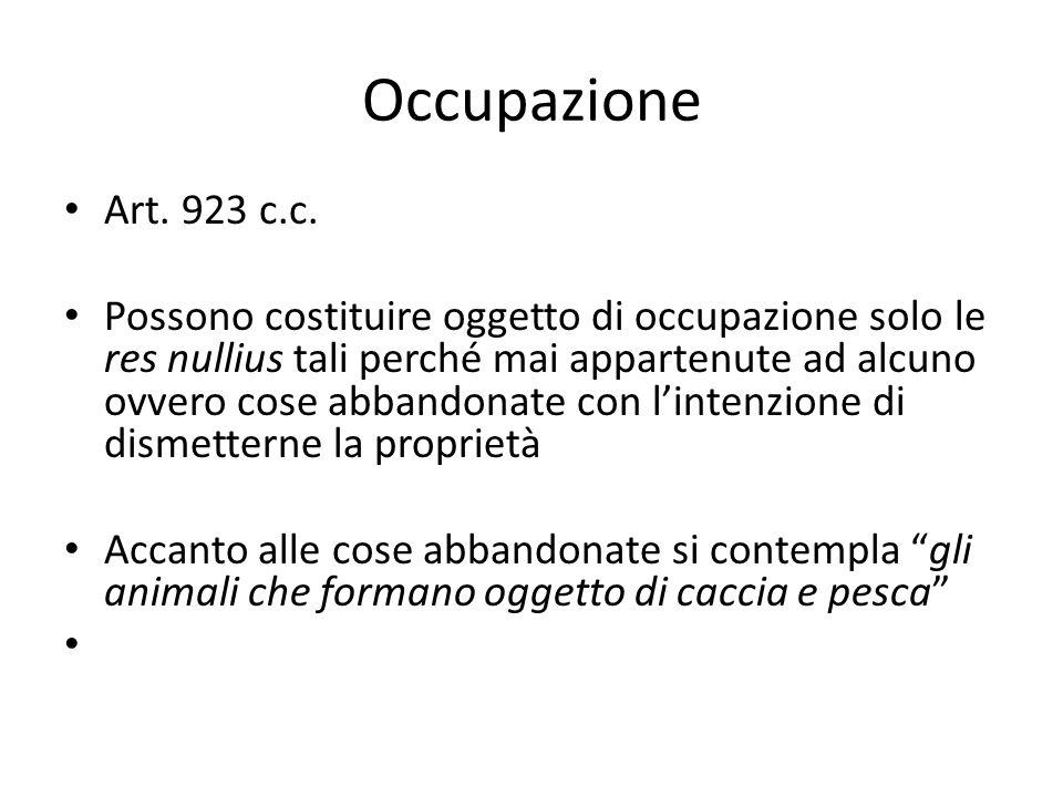 Occupazione Art.923 c.c.