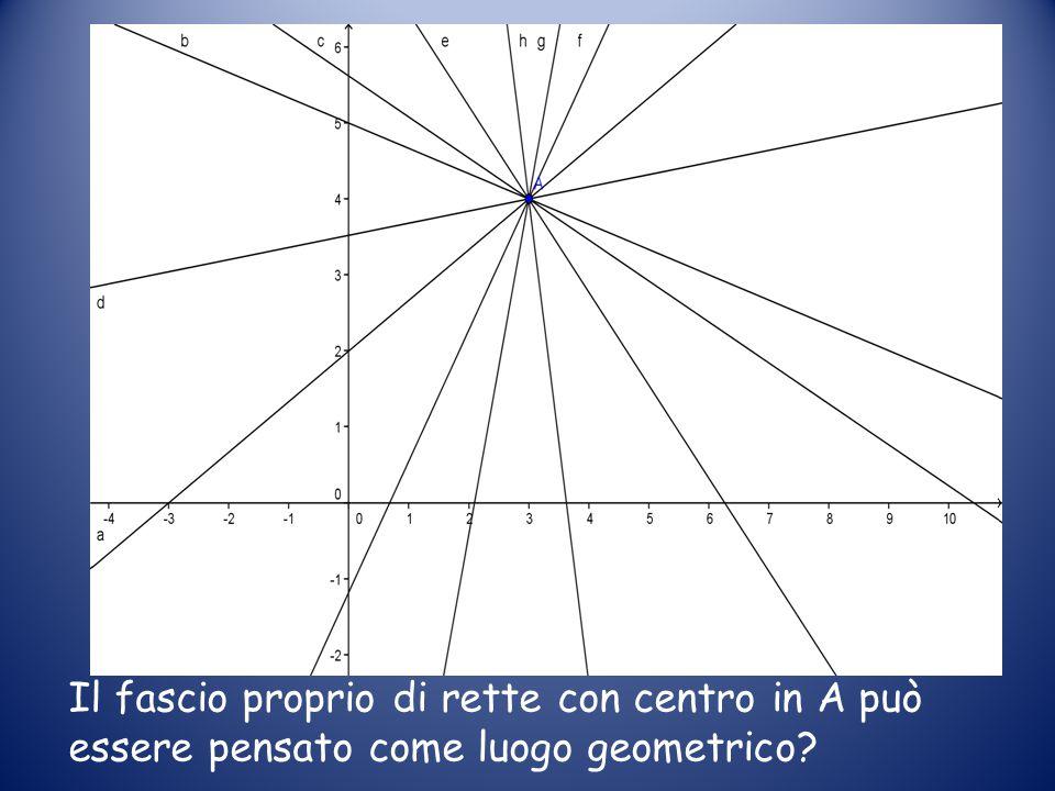 Il fascio proprio di rette con centro in A può essere pensato come luogo geometrico?