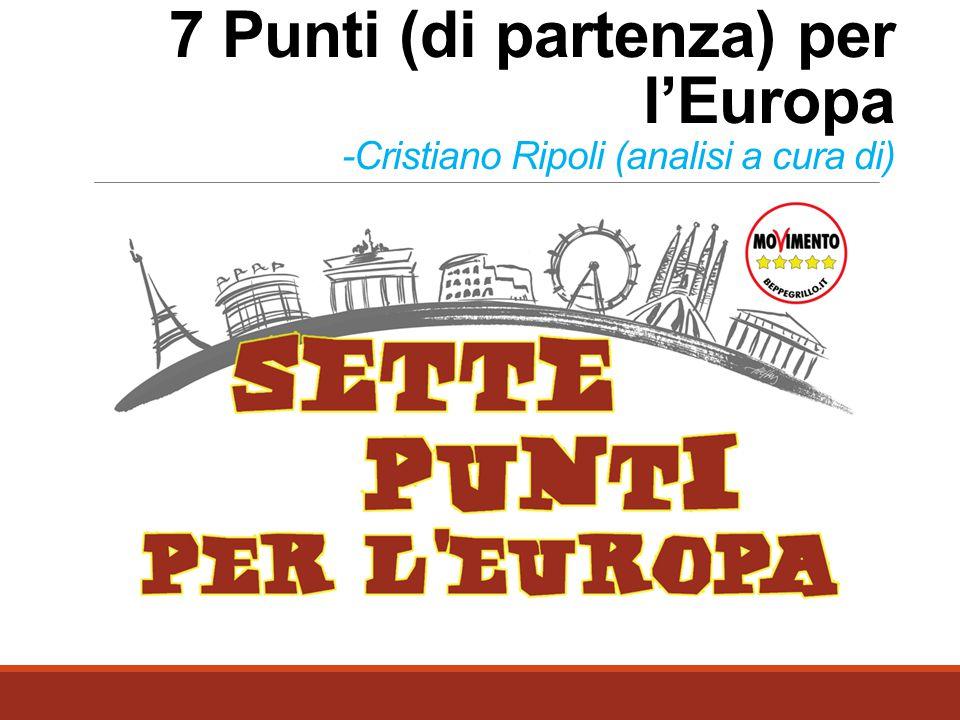 7 Punti (di partenza) per l'Europa -Cristiano Ripoli (analisi a cura di)