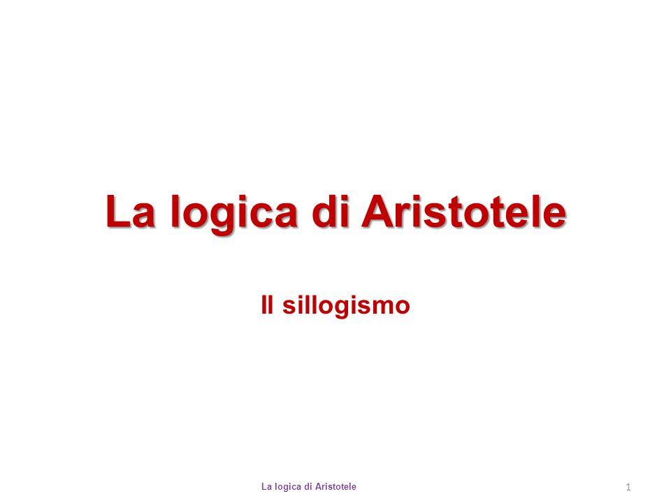 Sillogismi validi La logica di Aristotele 12 Non tutti i modi possibili costituiscono degli schemi validi di ragionamento.