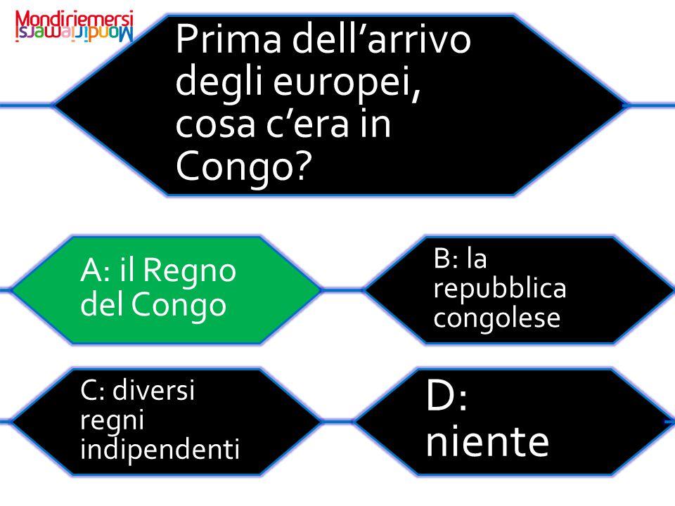 Prima dell'arrivo degli europei, cosa c'era in Congo.