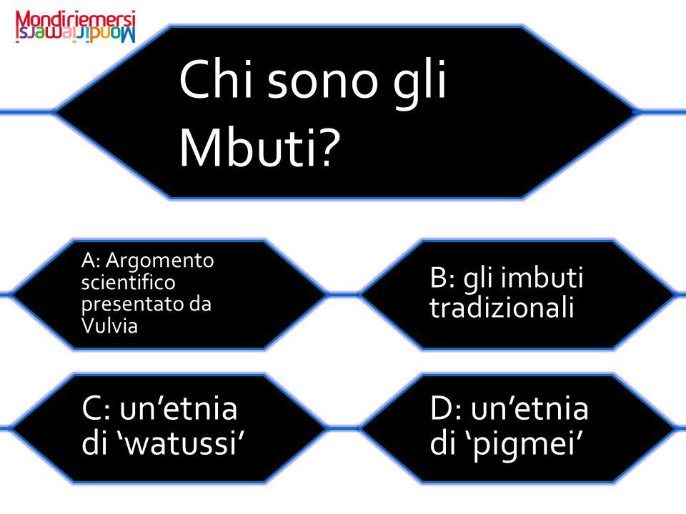 Chi sono gli Mbuti.