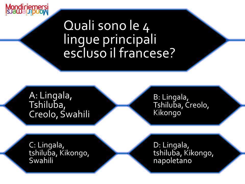 Quali sono le 4 lingue principali escluso il francese.