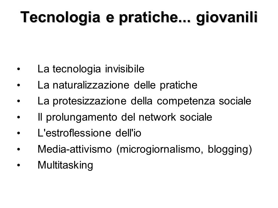 Tecnologia e pratiche...