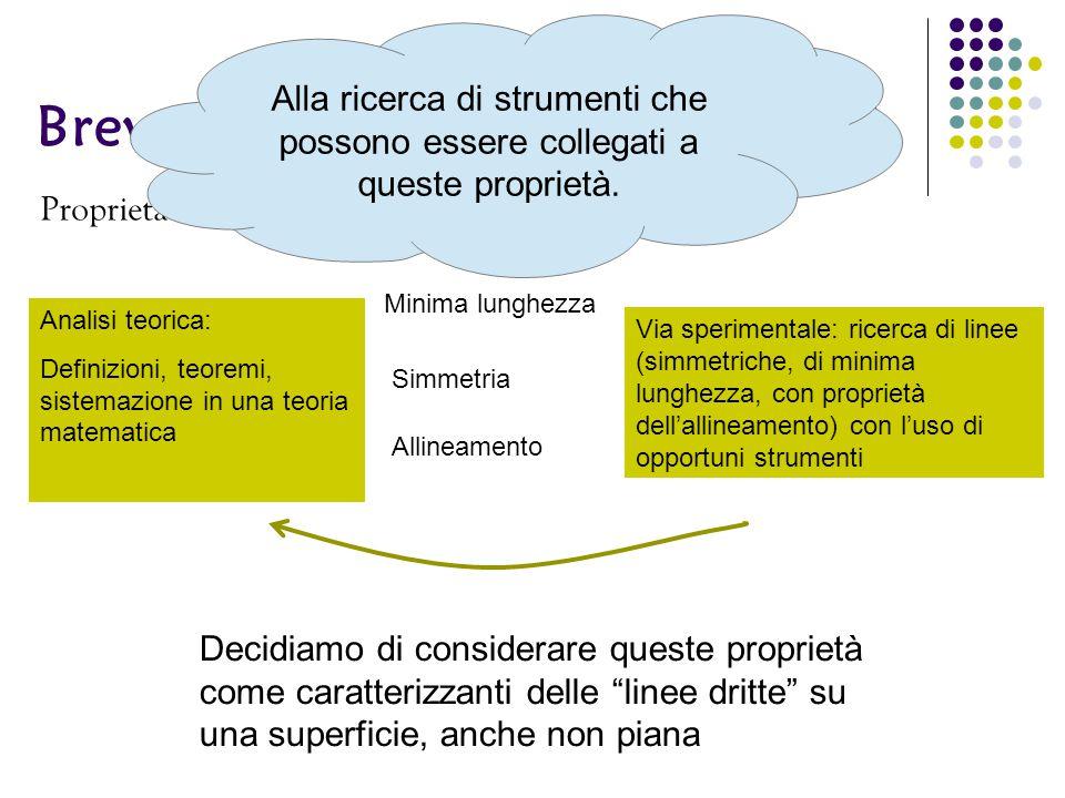 """Breve analisi dell' """"andare dritto"""" Proprietà dell'andare dritto: Minima lunghezza Simmetria Allineamento Decidiamo di considerare queste proprietà co"""