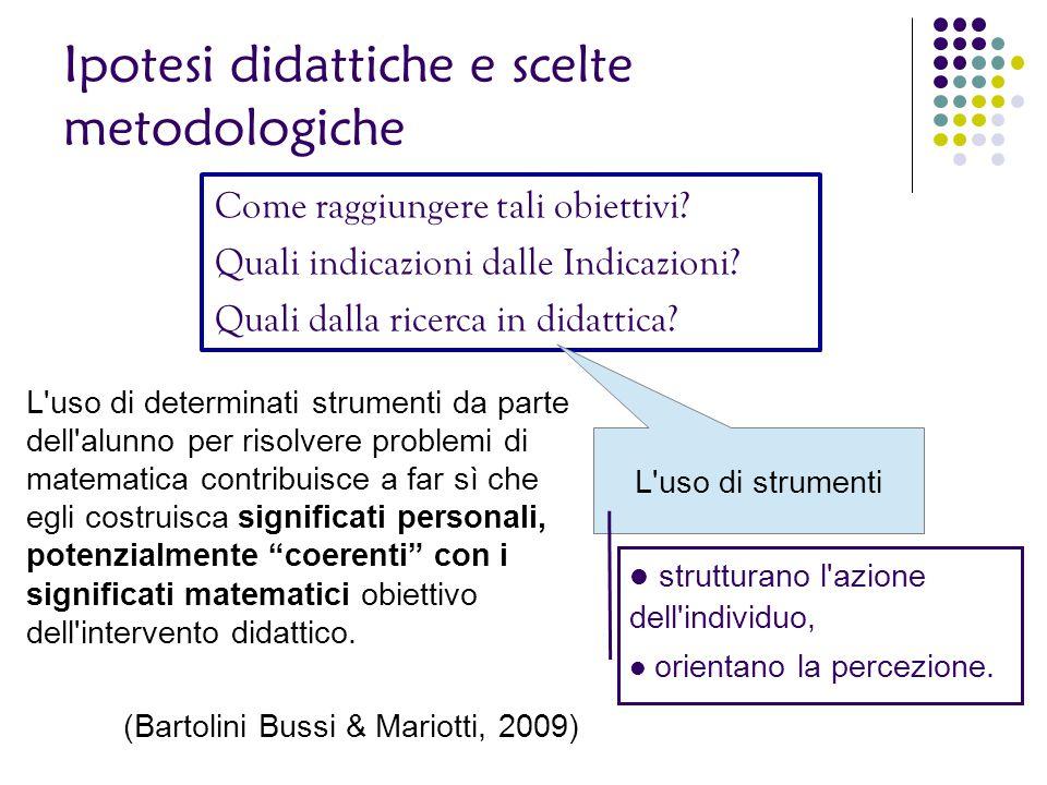 Ipotesi didattiche e scelte metodologiche Come raggiungere tali obiettivi? Quali indicazioni dalle Indicazioni? Quali dalla ricerca in didattica? L'us