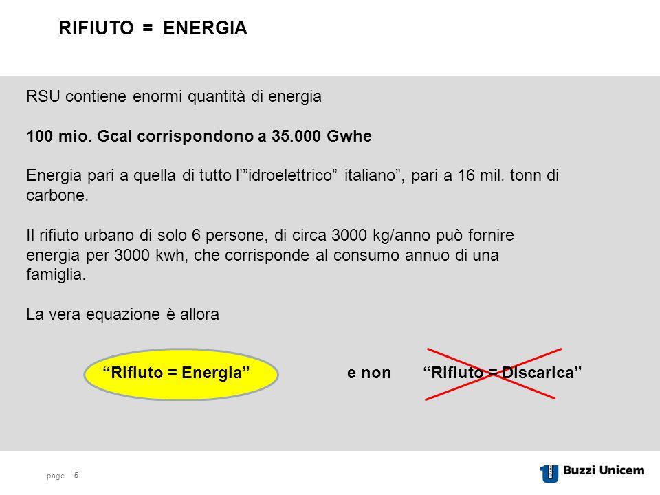 page RSU contiene enormi quantità di energia 100 mio.