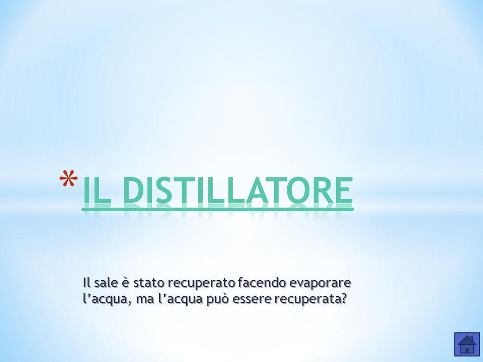 MATERIALE OCCORRENTE:  Distillatore  50g di Acqua demineralizzata  17g di cloruro di sodio NaCl  Piastra riscaldante PROCEDIMENTO: 1.