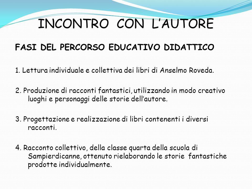 INCONTRO CON L'AUTORE FASI DEL PERCORSO EDUCATIVO DIDATTICO 1.