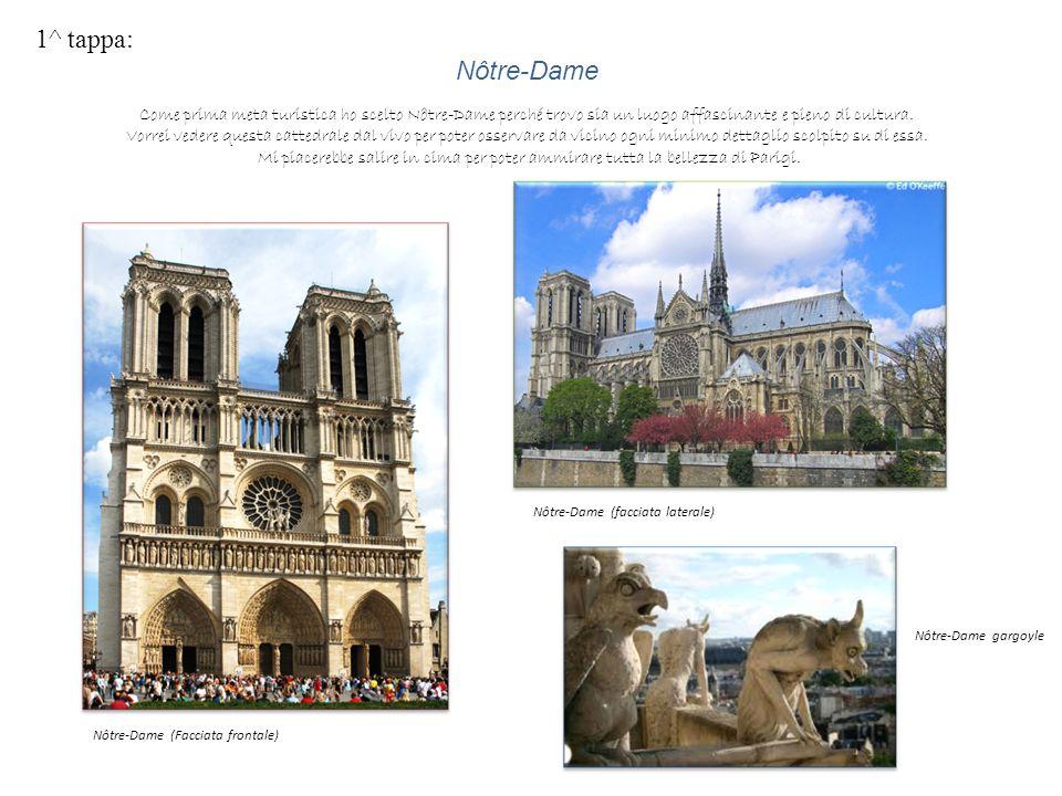 1^ tappa: Nôtre-Dame Come prima meta turistica ho scelto Nôtre-Dame perché trovo sia un luogo affascinante e pieno di cultura. Vorrei vedere questa ca