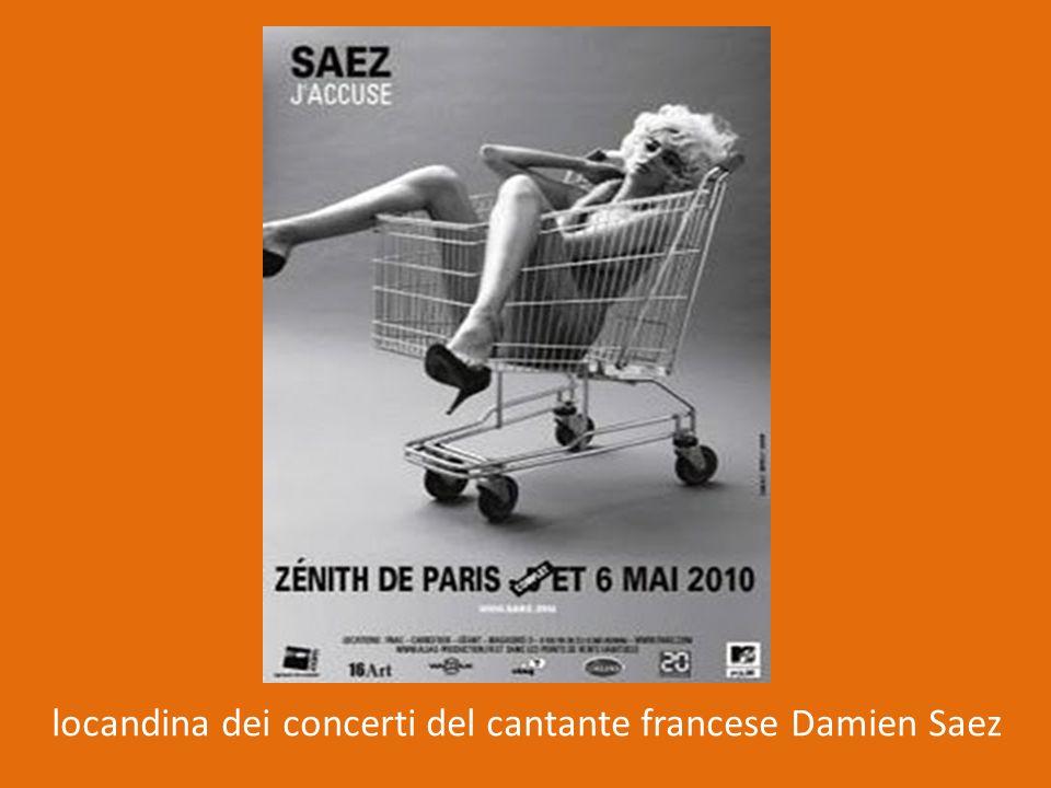 locandina dei concerti del cantante francese Damien Saez
