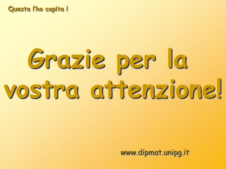 Grazie per la vostra attenzione! Grazie per la vostra attenzione! www.dipmat.unipg.itwww.dipmat.unipg.it