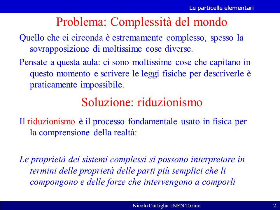Le particelle elementari Nicolo Cartiglia -INFN Torino23 Nota Bene
