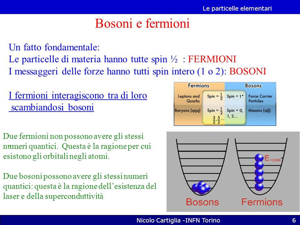 Le particelle elementari Nicolo Cartiglia -INFN Torino37 Come si fa un bosone di Higgs.