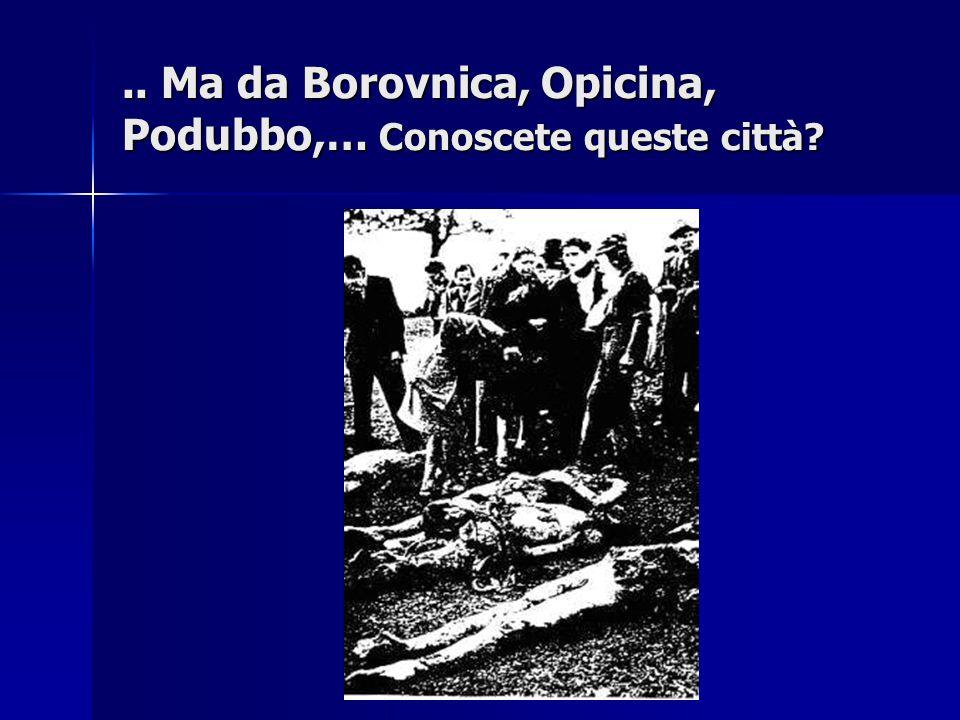 .. Ma da Borovnica, Opicina, Podubbo,… Conoscete queste città?