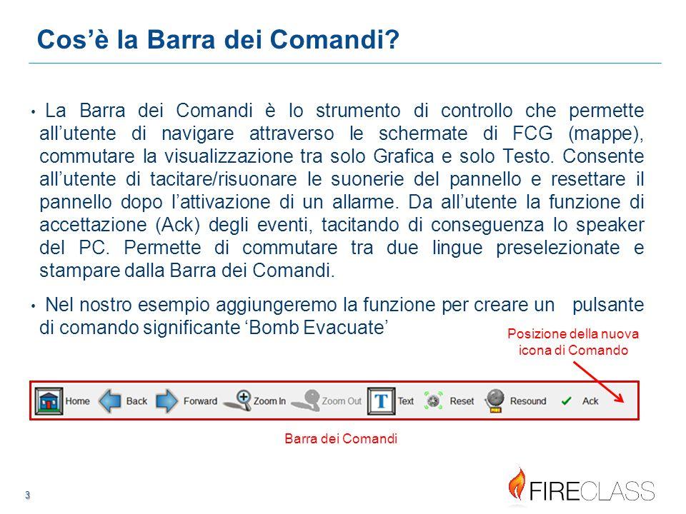 44 4 4 Creare un nuovo item nella Barra dei Comandi Configurare una nuova immagine (icona) per il pulsante 'Bomb Evacuate' 75W x 60H pixels è la giusta dimensione.