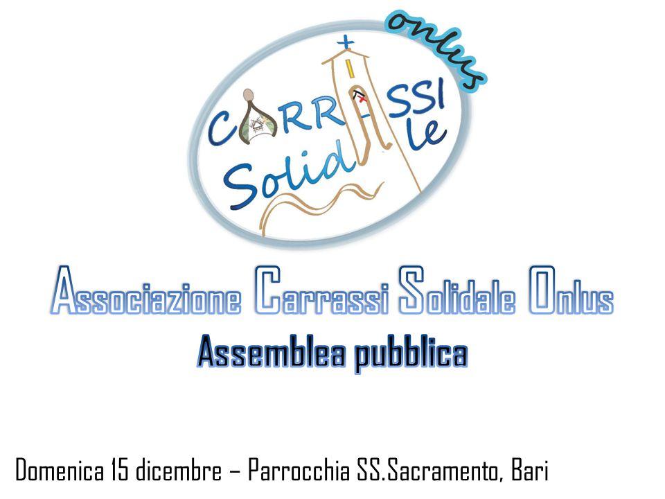 Domenica 15 dicembre – Parrocchia SS.Sacramento, Bari