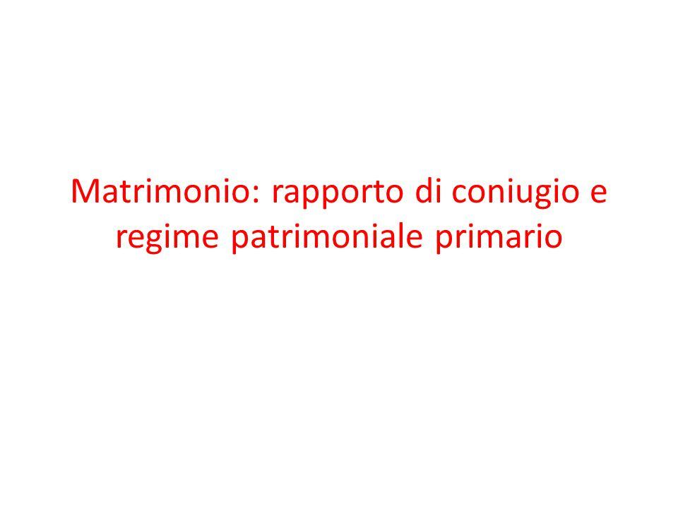 Effetti del matrimonio Natura inderogabile degli effetti del matrimonio ex art.