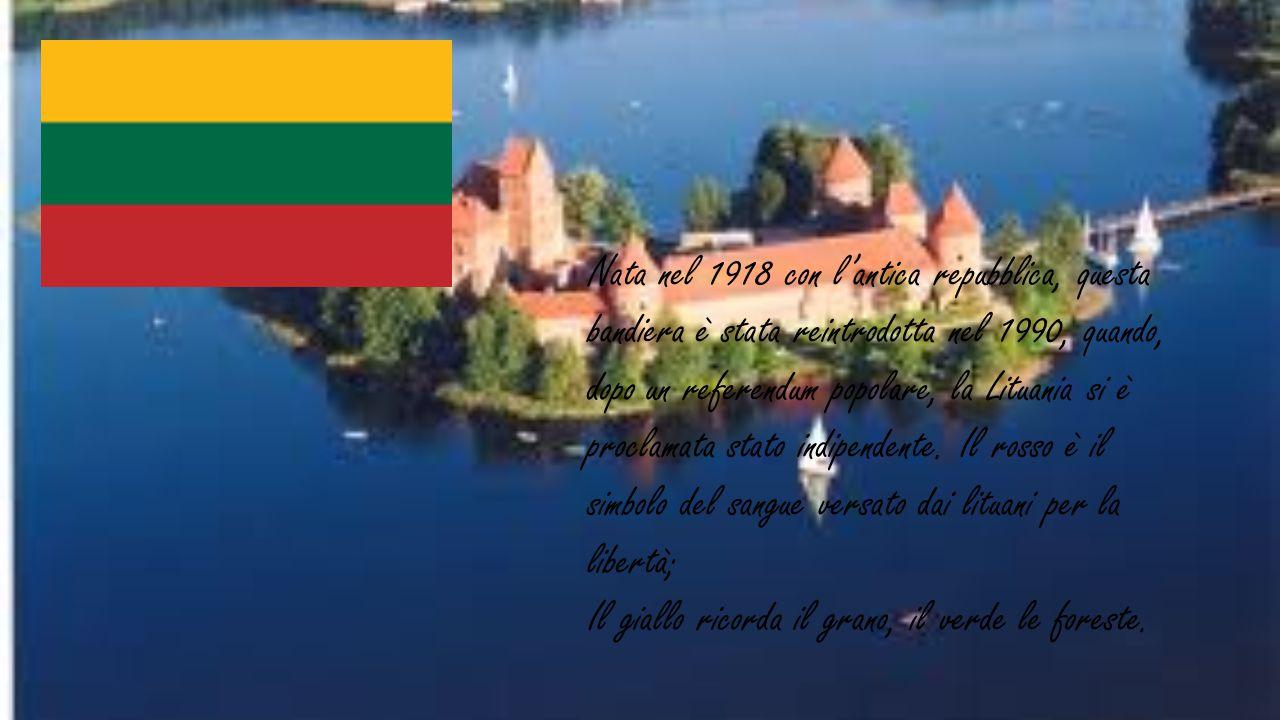 Nata nel 1918 con l'antica repubblica, questa bandiera è stata reintrodotta nel 1990, quando, dopo un referendum popolare, la Lituania si è proclamata