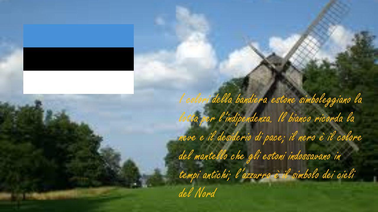 I colori della bandiera estone simboleggiano la lotta per l'indipendenza. Il bianco ricorda la neve e il desiderio di pace; il nero è il colore del ma