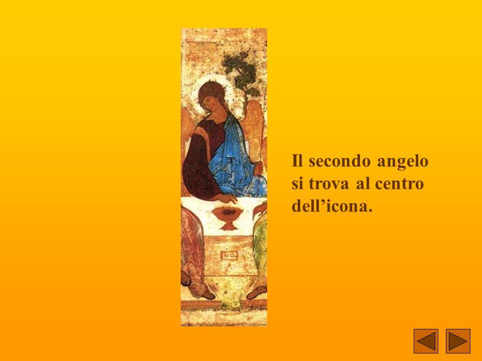 E' un'icona che nel tempo sarà conosciuta come l'icona delle icone... Vi si rappresentano tre angeli... Il primo angelo è a sinistra.