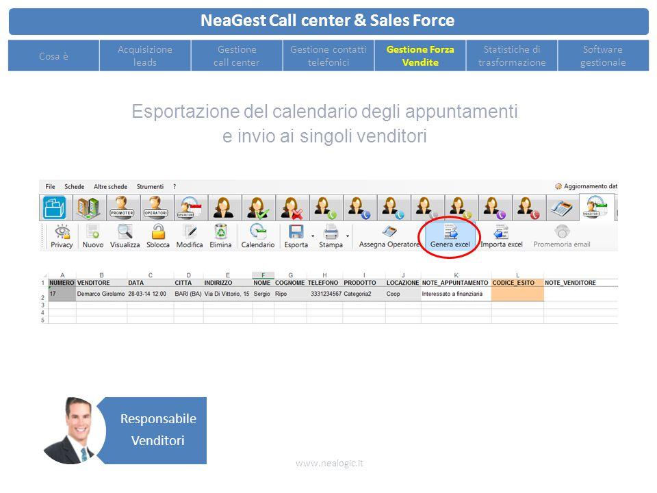 Controllo delle performance in tempo reale e avvisi automatici sui contatti da richiamare NeaGest Call center & Sales Force www.nealogic.it Cosa è Acq