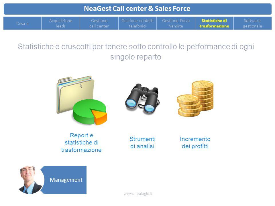 Esportazione statistiche e classifiche dei venditori per controllare le performance della rete di vendita NeaGest Call center & Sales Force www.nealog