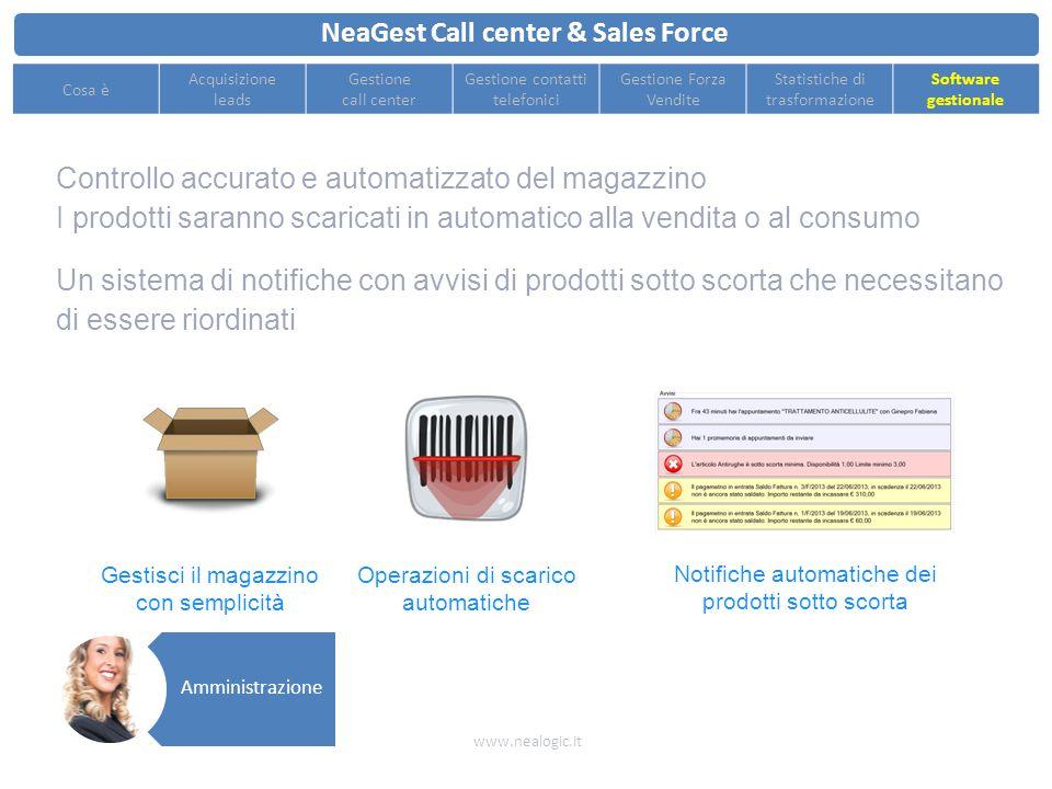 Generazione automatica dei documenti di vendita e di trasporto a partire dagli appuntamenti dei venditori esitati con successo NeaGest Call center & S