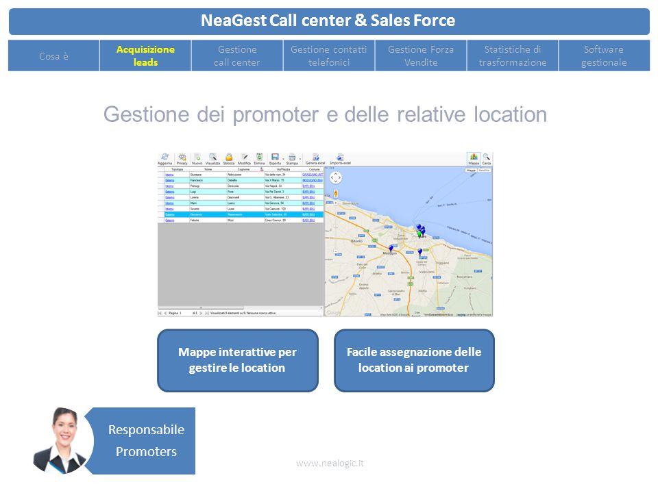 Supporta e migliora la produttività di tutte le figure coinvolte nel processo di vendita NeaGest Call center & Sales Force www.nealogic.it Cosa è Acqu