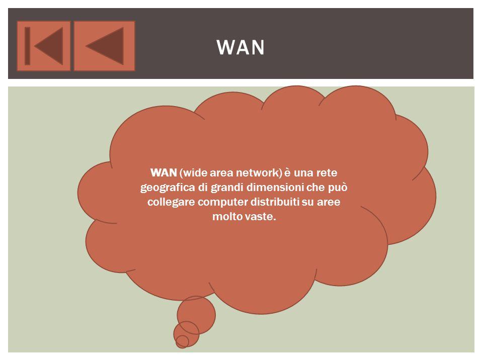 MAN (metropolitan area network) è la rete che copre un area metropolitana come per esempio quella di una grande città.
