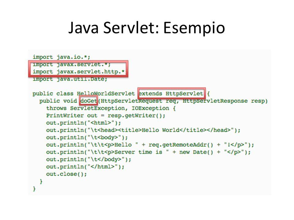 Java Servlet: Esempio