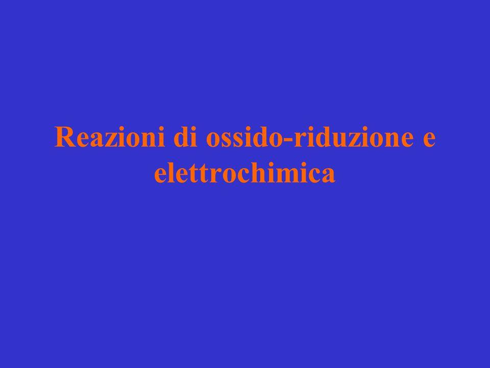 Reazioni di ossido-riduzione e elettrochimica