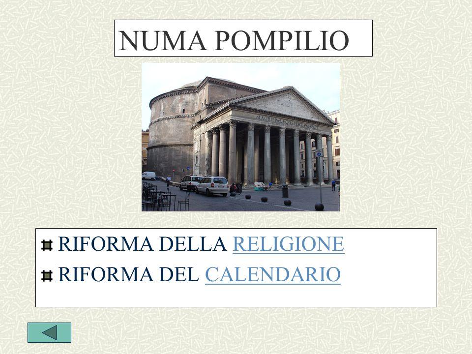 NUMA POMPILIO RIFORMA DELLA RELIGIONERELIGIONE RIFORMA DEL CALENDARIOCALENDARIO