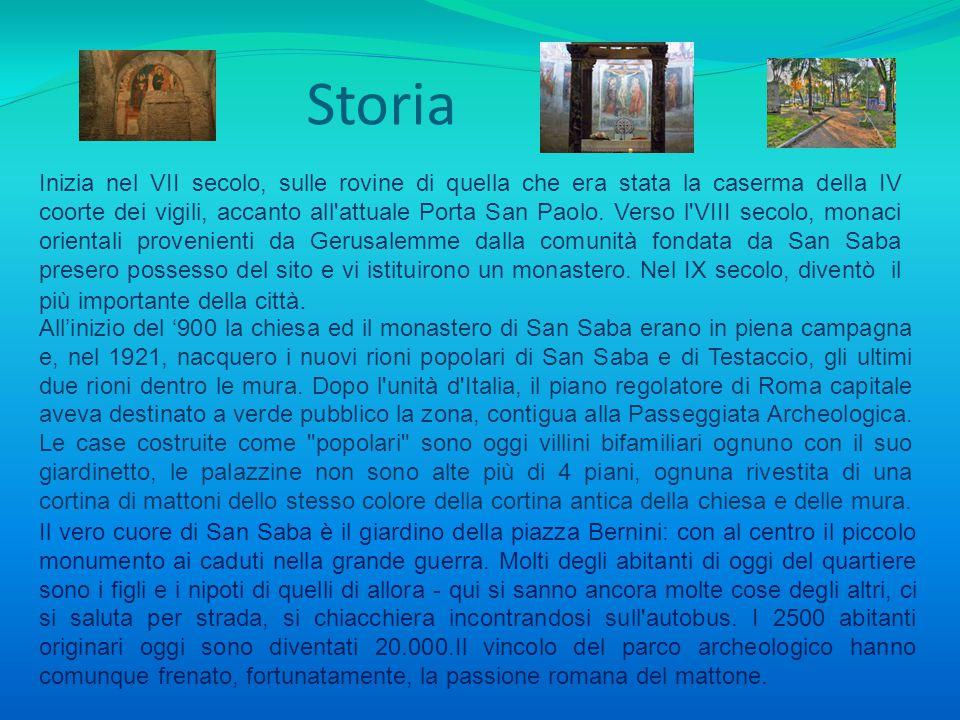 Storia Inizia nel VII secolo, sulle rovine di quella che era stata la caserma della IV coorte dei vigili, accanto all'attuale Porta San Paolo. Verso l