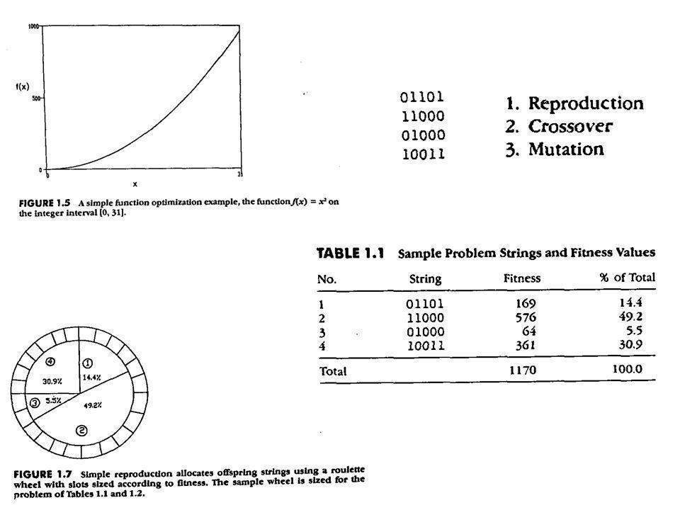 Efficienza dell'algoritmo genetico Il numero degli schemi processati può essere valutato come proporzionale a n 3, per una popolazione di n individui rappresentati con alfabeto binario.