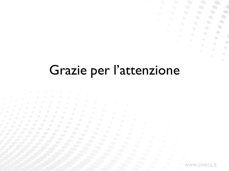 www.cineca.it Grazie per l'attenzione