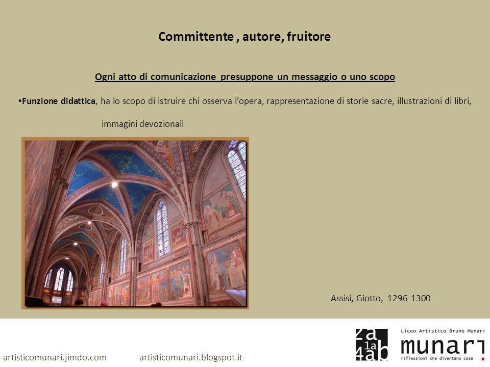 artisticomunari.jimdo.com artisticomunari.blogspot.it Committente, autore, fruitore Ogni atto di comunicazione presuppone un messaggio o uno scopo Fun