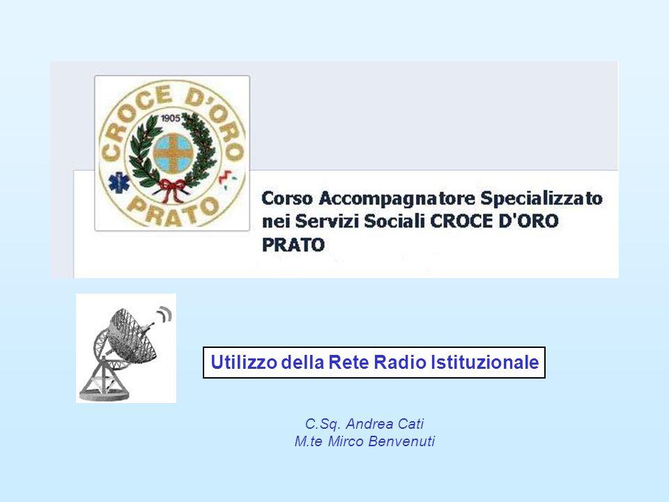 Utilizzo della Rete Radio Istituzionale C.Sq. Andrea Cati M.te Mirco Benvenuti