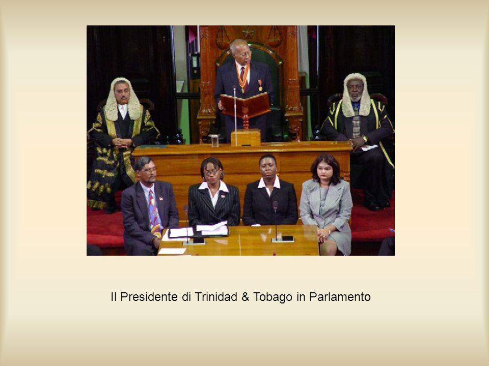 Il Presidente di Trinidad & Tobago in Parlamento
