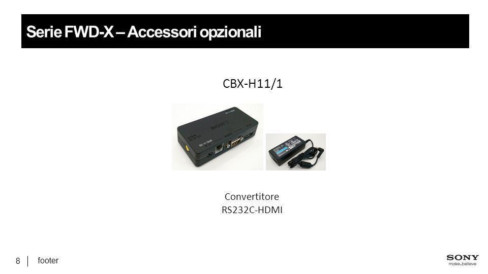 footer 8 Serie FWD-X – Accessori opzionali CBX-H11/1 Convertitore RS232C-HDMI
