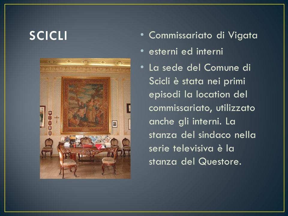 Commissariato di Vigata esterni ed interni La sede del Comune di Scicli è stata nei primi episodi la location del commissariato, utilizzato anche gli interni.