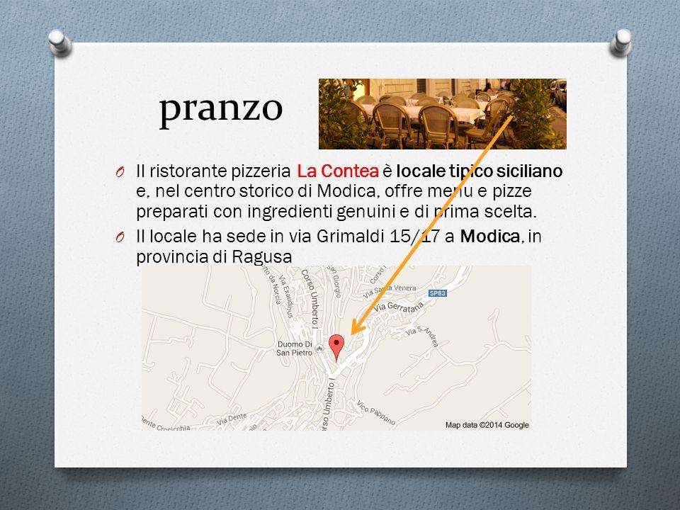 pranzo O Il ristorante pizzeria La Contea è locale tipico siciliano e, nel centro storico di Modica, offre menu e pizze preparati con ingredienti genuini e di prima scelta.