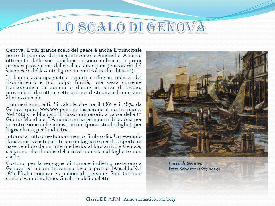 Genova, il più grande scalo del paese è anche il principale porto di partenza dei migranti verso le Americhe. A inizio ottocento dalle sue banchine si